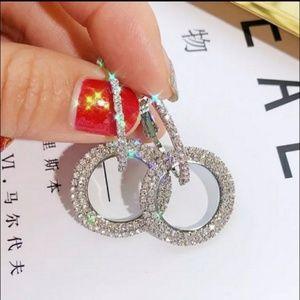 🎀Shimmering Natural Crystal Silver Earrings